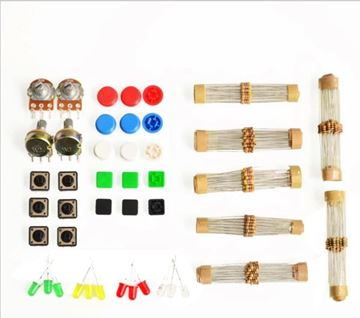 Handy Portable Resistor Kit for Arduino Starter Kit UNO R3 LED potentiometer tact switch pin header