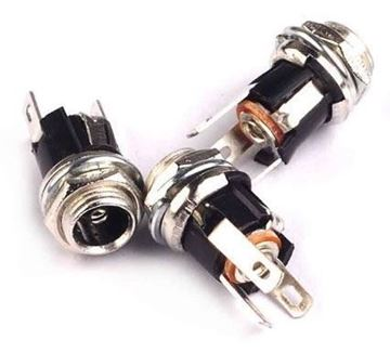 Conector hembra DC tipo Jack, 2 uds
