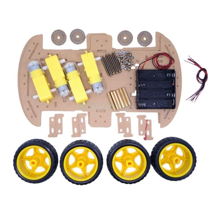 Kit coche 4WD, chasis sin electrónica