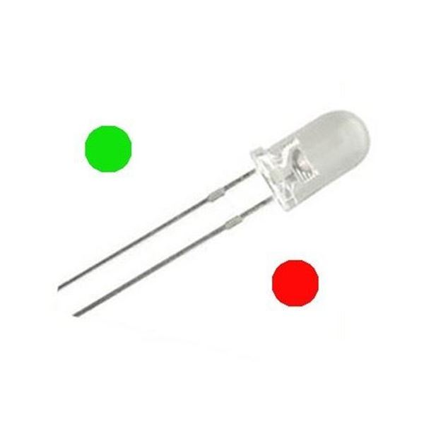 LED Bicolor 5mm, Rojo-Verde, 10uds