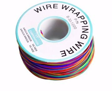 Cable 8 colores AWG30 de Silicona, 280mts