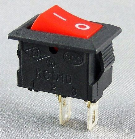 Interruptores 12x20mm, 6A/250V, on/off 5 uds