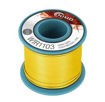 Cable rígido AWG21, hilo de 0,8mm, 20mts Amarillo