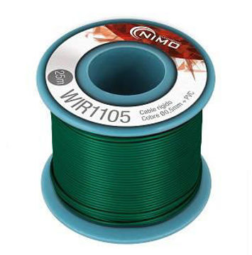 Cable rígido AWG21, hilo de 0,8mm, 20mts Verde